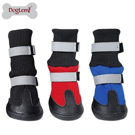 Pet Autumn and Winter Luminous Warm Long Boots