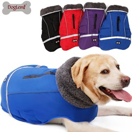 Dog Thicken Jacket Vest Costume Water Repellent Reflective Warm Dog Clothes
