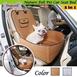 Retro Pure Color Dual-use Pet Car Mattress