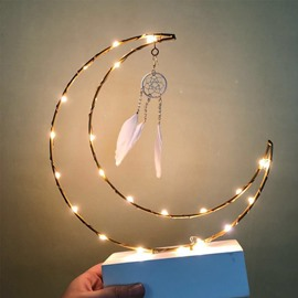 Dreamcatcher Night Light Girl Lights Posing Decorative Props