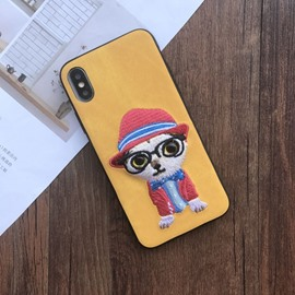 Fashion Cute 3D Cartoon Dog Silicone Case Cover for iPhone