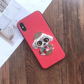 Fashion Cute 3D Cartoon Dog Silicone Waterproof Case Cover for iPhone