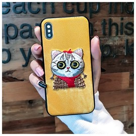Super Cute Cat Design Protective Phone Case for iPhone