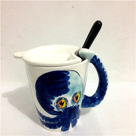 3D Adorable Animals Octopus Cup Set Ceramics Milk Cup sets Coffee Cup sets