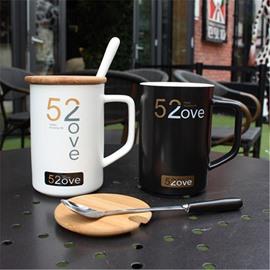 Black and White Mugs Creative Gift 520 Couples Cups Tea and Coffee Mugs