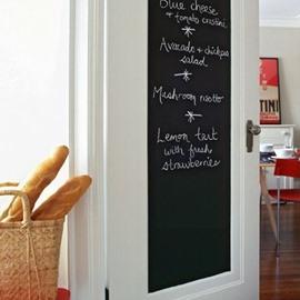 17×78in Solid Black Self-Adhesive PVC Waterproof Blackboard Wall Stickers