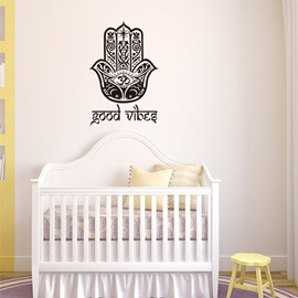 Removable Art Mural Fatima Lucky Hand Good Vibes Wall Sticker