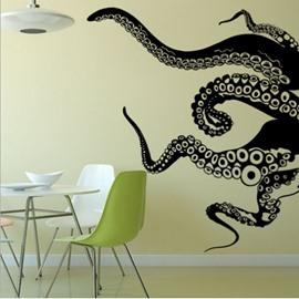 Animals Vinyl Wall Art Giant Octopus Tentacles Wall Decal Sticker