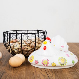 Art Decor Chicken in Your Kitchen Egg Storage Box