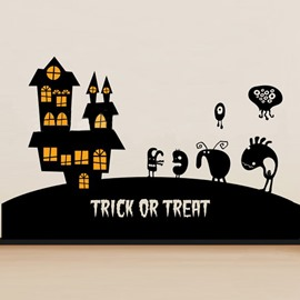 Castle Wizard Dark Night Halloween Wall Sticker