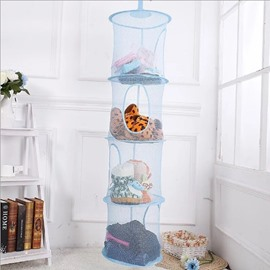 Mesh Hanging Storage with 4 Compartments Toy Hanging Storage Organizer