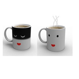 Magic Heat Sensitive Smile Changing Coffee Mugs