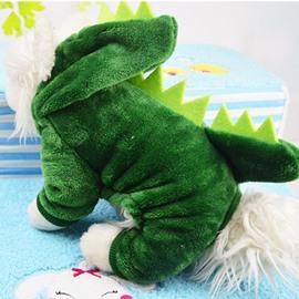 Dinosaur Shape Green XS-XXL Cute Custom Puppy Dog Cat Cloth