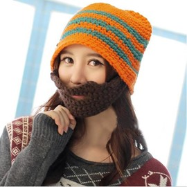 Knit Mask with Hat Winter Warm Windproof Funny for Men & Women