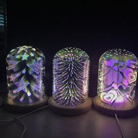 Love Heart Star Special Design 3D LED Light for Bedroom