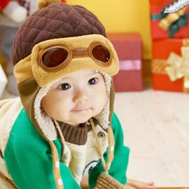 Boys Winter Warm Pilot Crochet Earflap Hats