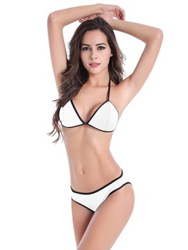 Women Halter Two-piece Swimwear Bikini Set