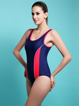 Female U-neck Streamline Sports Style Free Wire Tankini