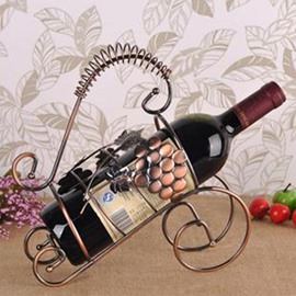 New Arrival Grape Decorative Wrought Iron Artware Wine Rack