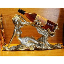 Gorgeous Mermaid Resin 1-Bottle Wine Rack Bottle Holder
