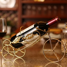 Creative Stainless Steel Tricycle Design Wine Holder