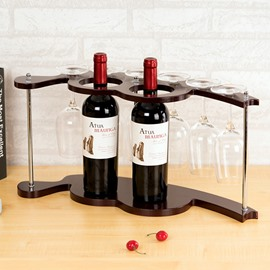 European Style Unqiue 2-Bottle Wine Rack & Bottle Holders