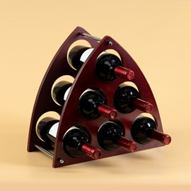 Creative Triangular Design 6-Bottle Wine Rack