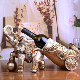 Special Resin Gorgeous Elephant Shape Design Home Decorative Wine Rack