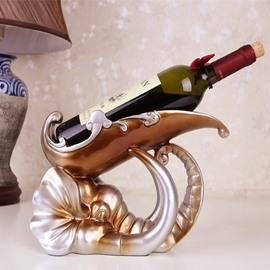 Unique Design Elephant Head Shape European Style Wine Rack