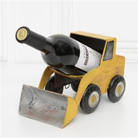 Creative and Modern Style Bulldozer Design Iron Home Decorative Wine Rack