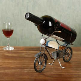 Modern and Creative Style Motorcycle Design Iron Home Decorative Wine Rack