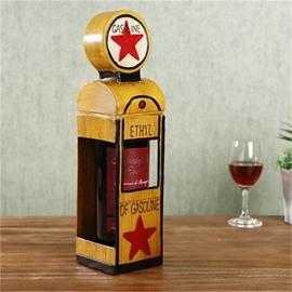 Modern and Retro Style Gas kiosk Design Iron Home Decorative Wine Rack