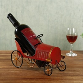 Retro Amazing Style Old Car Design Iron Red Wine Rack