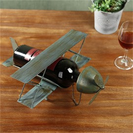 Creative Home Decoration Retro plane Delicate Red Wine Rack