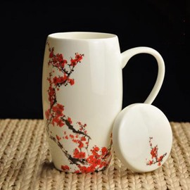 Top Quality Pretty Red Plum Coffee Mug