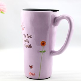 Beautiful Large Size Vanilla Yellow Ceramic Coffee Mug