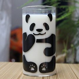 Cute Panda Pattern Glass Milk Cup Coffee Cup