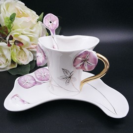 Wonderful Ceramic 3D Bellflower Design Coffee Cup
