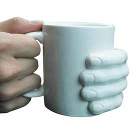 Creative 3D Hand Holding the Mug Ceramic Coffee Mug