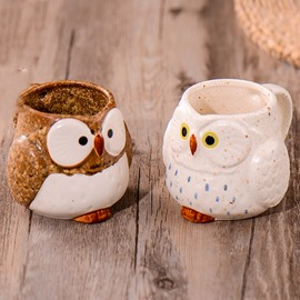 Cute Owl Design Ceramic Coffee Mug