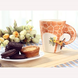 Stunning Creative Giraffe Design Ceramic Coffee Cup