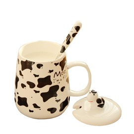 Lovely Ceramic Creative Dairy Cow Pattern Design Coffee Mug