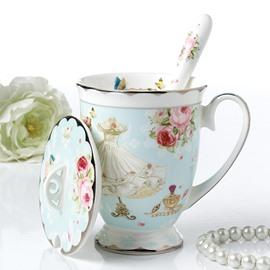 Romantic European Country Style Flower Pattern Home Coffee Mug