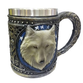 Wonderful and Amazing Head of Wolf Newfangled Pattern Milk and Coffee 3D Cup