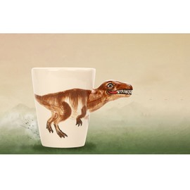 3D Creative and Elegant Style Ceramics Hand Painted Tyrannosaurus Rex Birthday Gift Cups and Mugs