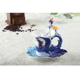 Creative and Modern Style Phoenix Design Gorgeous Ceramics Coffee Cup