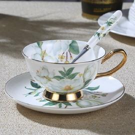 Camellia European Style Bone China Afternoon Tea Coffee Mug