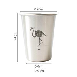Nordic Industrial Style Stainless Steel Animal Pattern Coffee Mug