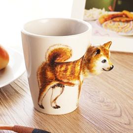 Japanese Style Shibu Inu 3D Painting Ceramic Mug