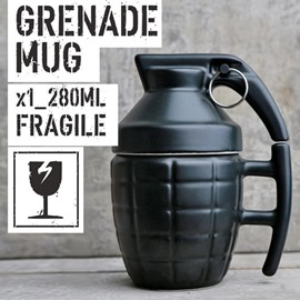 Little-Sweet Creative Grenade Shape Design Ceramic Coffee Mug